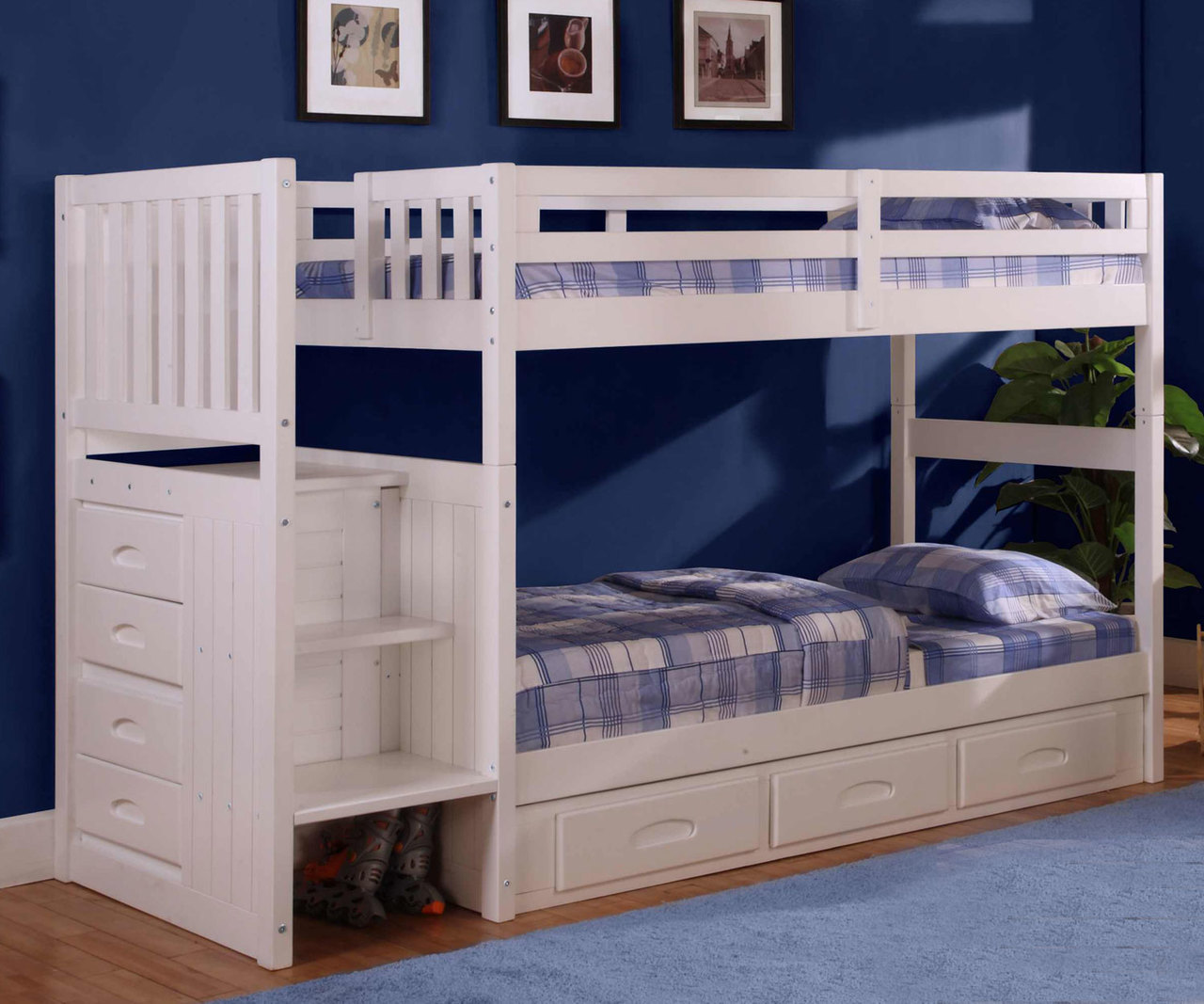 The Best Kids Twin Over Twin Bunk Beds Kids Furniture Warehouse