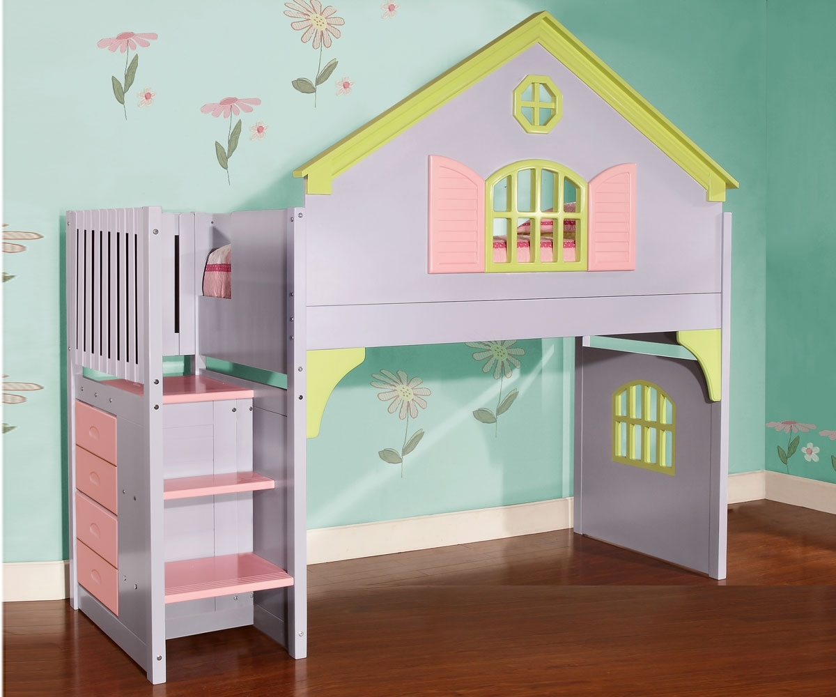 Doll House Loft Bed | Kids Furniture Warehouse